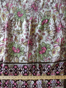 Pre-Smocked Pink Floral Tiered Ruffle Band Shirred Sundress Fabric Print