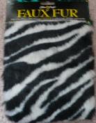 Zebra Faux Fur - 30cm . X 38cm . from Fibre Craft - #1619-01