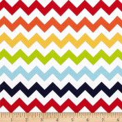 Riley Blake Cotton Jersey Knit Chevron Small Rainbow Fabric