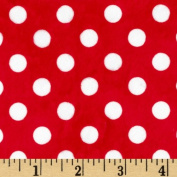 Minky Minnie Dots Red/White Fabric