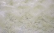 Luxurious Minky Rosebud Fabric - Ivory