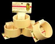4 Pack, Wood Bangle Bracelet, Flat Exterior, 4.4cm Wide, Large Size, ReadyToDecorate