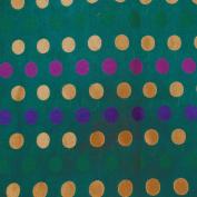 Green Brocade Jacquard Fabric Polka Dot Pattern Drape Dress Quilt Apparel Sewing Craft 1 Yard