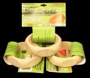 3 Pack, Wood Bangle Bracelet, Pentagon Shaped Exterior, 2.5cm Wide, Medium Size, ReadyToDecorate