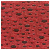 2.4cm Wide Flocked Foil (Red/Black) by the Yard