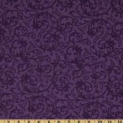 Baroque 270cm Wide Quilt Backing Flourish Purple Fabric