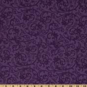 Baroque 270cm Wide Quilt Backing Flourish Purple Fabric