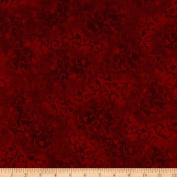270cm Essential Scroll Quilt Backing Red Fabric