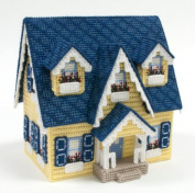 Yellow Cape Cod House Plastic Canvas Kit