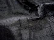 100% Pure Thai Silk Dupioni - Black Hand Made!
