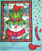 Welcome Christmas Quilt Panel with Backing