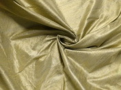 Light Gold 100% Silk Dupioni Fab 140cm By the Yard