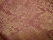 Rose Pink & Gold Upholstery Drapery Fabric 280cm Wide By the Yard