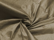 Tan 100% Silk Dupioni Fabric 140cm By the Yard