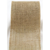 Burlap Ribbon 6.4cm Wide Ecofriendly Natural Burlap Jute Ribbon 10 Yards Roll
