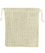 25cm x 30cm Ivory Jute Favour Bags - 10 Pack