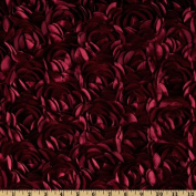 Loveable Satin Ribbon Rosette Burgundy Fabric