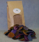 Woolly Charms Box of Pennies Dyed Felted Wool 3.8cm and 2.5cm 200 Dark Mix
