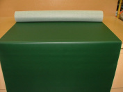1 Metre Green Vinyl Leatherette Faux leather Upholstery Fabric