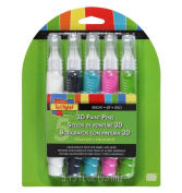 Scribbles 27793 Dimensional Bright Fabric Paint Pen, 5-Pack