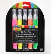 Scribbles 27791 Dimensional Fabric Paint Pen, 5-Pack
