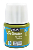 Pebeo Opaque Setacolor Fabric Paint, 45ml, Olive