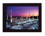 The Prophets Mosque, Medina. Overall frame size 20cm x 15cm . Ideal for most gifting occassions.