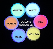 SIX Color UV Reactive Invisible Acrylic Paint Set- 30ml pots