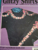 VICTORIAN GARLAND - GLITZY SHIRTS - LAME IRON ON APPLIQUE KIT #77149
