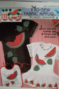 WATERMELON - DAISY KINGDOM NO SEW FABRIC APPLIQUE KIT - JUST IRON WITH FUSIBLE WEB AND FINISH WITH SLICK PAINT - FAST AND EASY!