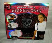 "Premium Iron-On Rhinestones Kit - ""Royalty"" with Crowned Skull"