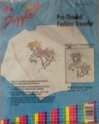 Carousel Horse - Preshaded Mini Fashion Iron-On Transfers - 36cm X 43cm Sheet (Dizzle Art) #50038