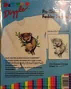 Koala - Preshaded Iron-On Transfers - 36cm x 43cm Sheet (Dizzle Art) #50041