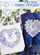 Daisy Kingdom No-Sew Fabric Applique ~ Heart Violets