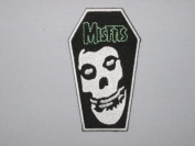 MISFITS Coffin Skull Logo Iron On Patch
