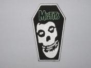 MISFITS Coffin Skull Logo Iron On Patch