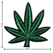 Marijuana Leaf Style Embroidered iron-on/sew-on patch