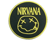 NIRVANA Classic Smiley Logo Embroidered Iron On Patch