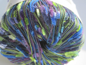 Borabora by Filati FF Novelty Yarn #492 Royal Blue Royal Purple Green