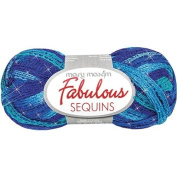 Fabulous Sequins Yarn-Caribbean Tide