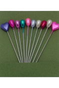 Heart & Tear Drop Knitting Marking Pins - Assorted Colours