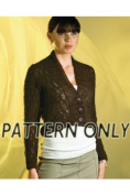 Short Lace Jacket in Mist *Pattern*