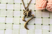 Fox Necklace,so Cute and Lovely,best Gift for Your Lover Girl Friend and Friends,retro Bronze Fox Necklace