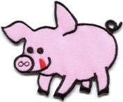 Pig sow hog swine boar livestock farm animal applique iron-on patch