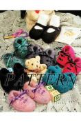 Felt Baby Shoes - maryjane & lace-up styles *Pattern*