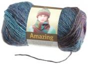 Lion Brand Yarn 825-208 Amazing Yarn, Glacier Bay