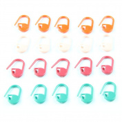 Estone New 80 pcs Colourful Knitting Crotchet Locking Stitch Markers Craft Helper