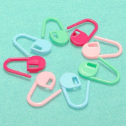30pcs Plastic Knitting Crochet Locking Stitch Marker Holder Clip DDStore