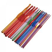 14pcs Multicolor Aluminium Crochet Hooks Needles Knit Weave Craft Yarn 2.0-10.0mm