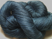 100% Mulberry Queen Silk Yarn 50 Gramme 3 Ply Lace Weight Denim Blues QS010 Lot B